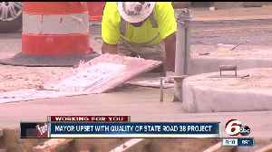 News video: New Castle mayor upset with quality of State Road 38 project