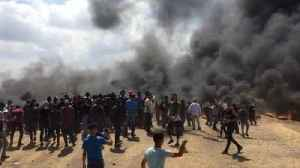 News video: Protests continue as Palestinians clash with Israeli soldiers at the Gaza border
