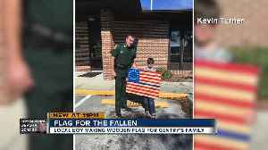 Lakeland 10-year-old, father craft flags honoring fallen deputy, 'thin blue line'