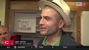 News video: Joey Votto on the earthquake that happened during his 1st-inning PA
