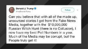 News video: Trump Touts 'Best Poll Numbers' Despite 'Russian Witch Hunt'