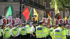 News video: Angry Protesters Greet Turkish President's Arrival For UK State Visit