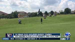 News video: 11 year old Avery Zweig talks about trying to qualify for US Open