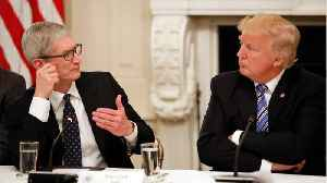News video: What Tim Cook And President Trump Discussed In Closed Doors Meeting