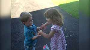News video: Toddler Girl & Boy Pretend To Marry Each Other