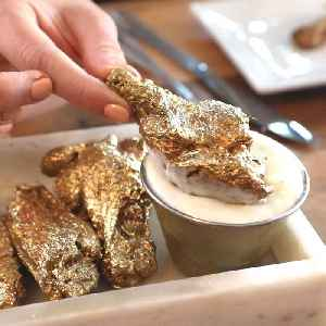 News video: These 24-karat gold chicken wings cost $1,000