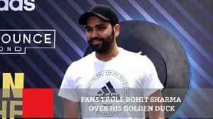 News video: Fans Troll Rohit Sharma Over His Golden Duck