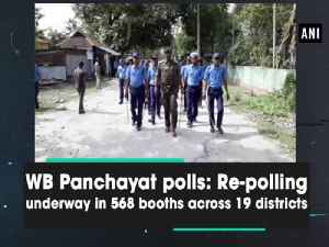 News video: WB Panchayat polls: Re-polling underway in 568 booths across 19 districts