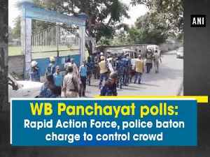 News video: WB Panchayat polls: Rapid Action Force, police baton charge to control crowd