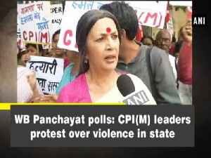 News video: WB Panchayat polls: CPI(M) leaders protest over violence in state