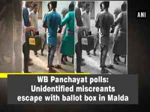 News video: WB Panchayat polls: Unidentified miscreants escape with ballot box in Malda