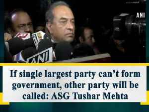 News video: If single largest party can't form government, other party will be called: ASG Tushar Mehta