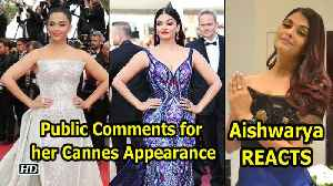 News video: Aishwarya REACTS on Comments for her Cannes Appearance