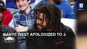 News video: Kanye West Apologized to J. Cole for Tweeting About Their Phone Call