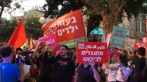 News video: Large Crowd in Tel Aviv Gathers to Demonstrate Against Killing of Protesters