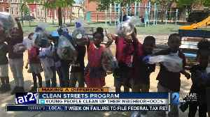 News video: East Baltimore Elementary school students clean up 9 blocks with Baltimore Clean Streets