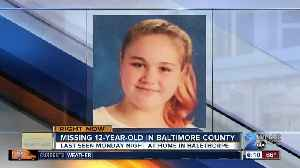 News video: Police looking for missing girl from Baltimore County