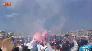 News video: Marseille Fans Getting Ready for Europa League Final