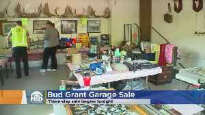 News video: Bud Grant Throwing Another Garage Sale