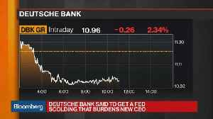 News video: Deutsche Bank Scolded by the Fed
