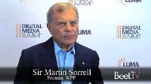 """News video: Sir Martin Sorrell Ponders Government Intervention in Tech Giant """"Monopolies'"""