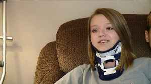News video: Missouri High School Student Says She`s Lucky to be Alive After Serious Car Accident