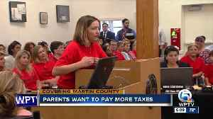 News video: Martin County parents want to pay more taxes