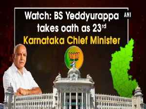 News video: Watch: BS Yeddyurappa takes oath as 23rd Karnataka Chief Minister