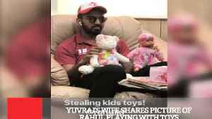 News video: Yuvraj's Wife Shares Picture Of Rahul Playing With Toys
