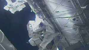 Astronauts conduct 6-hour spacewalk outside the ISS