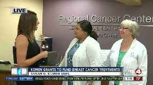 News video: Susan G. Komen grants almost $200,000 to local non-profits for breast cancer patient resources - 7am live report