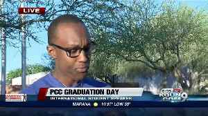 News video: Thousands of students will be graduating tonight from PCC, including 18 international students