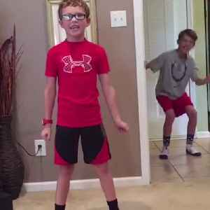 News video: Broadway Bound Child Belts His Heart Out Not Knowing His Brother Was Behind Him