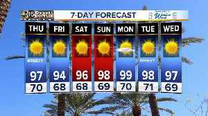 News video: Winds picking up on Thursday