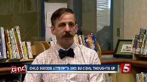 News video: Study: More Teens, Kids Attempt Suicide Have Suicidal Thoughts