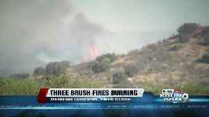 News video: Brush fires burning off Highway 83, road closed 13 miles north of Highway 82