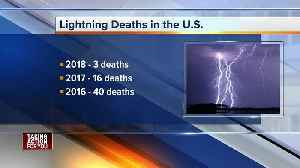 News video: One person killed, another injured after lightning strike in Florida