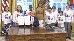 News video: First Lady Melania Trump Launches The 'Be Best' Campaign