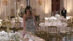 News video: First Lady Melania Trump Stuns At State Dinner