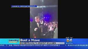 News video: Trending: John Travolta Busts Out Dance Moves