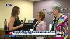 News video: Susan G. Komen grants almost $200,000 to local non-profits for breast cancer patient resources - 7:30am live report