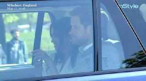 News video: Right Now: Meghan Markle Just Arrived at Windsor Castle and Already Looks Like a Bride