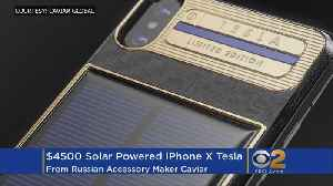 News video: Russian Company Unveils $4.5K Solar-Powered IPhone X