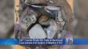 News video: Tens Of Thousands In Cash, Diamonds Found In Safe In Couple's Backyard
