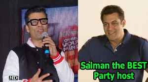 News video: Karan Johar calls Salman Khan the BEST Party host