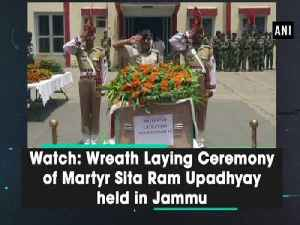 Watch: Wreath Laying Ceremony of Martyr Sita Ram Upadhyay held in Jammu [Video]