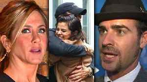 News video: Selena Gomez Justin Theroux DATING, Jennifer Aniston FURIOUS