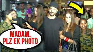 News video: Fans Go Mad And Follow Newly Wed Neha Dhupia and Angad Bedi At Airport