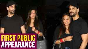 News video: Neha Dhupia and Angad Bedi First Public Appearance Post Wedding