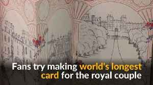 News video: Record attempt for world's longest folded card as gift for royal couple